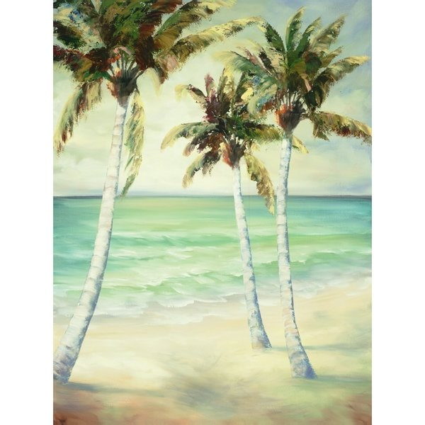 Portfolio Canvas Decor Breezy Palms 6 Large Printed Canvas Wall Art