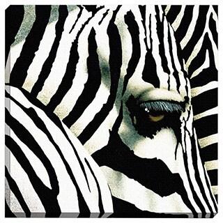 Portfolio Canvas Decor Do Zebras Dream in Color Printed Canvas Wall Art
