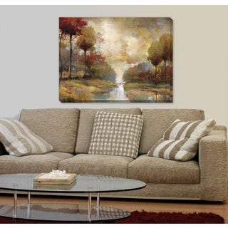 Portfolio Canvas Decor Fond Memory' Printed Gallery-wrapped Canvas Art