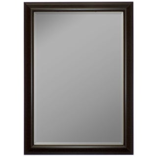 Glossy Silver Smoked Black Framed Wall Mirror