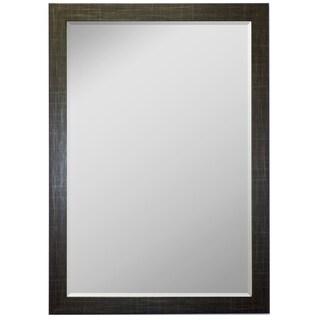 Scotch Plaid Black Framed Wall Mirror