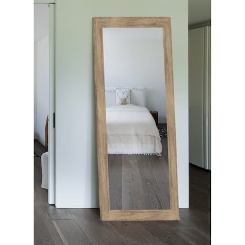 Hitchcock Butterfield Chesapeake Large Brown Rustic Mirror