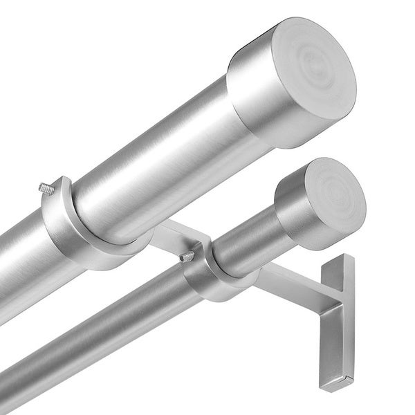 Umbra Cappa Nickel Double Curtain Rod