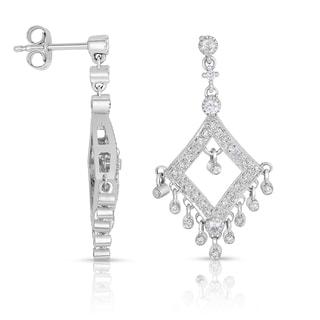 14k White Gold 2/3ct TDW White Diamond Dangle Earrings (H-I, SI1-SI2)