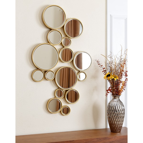 Shop Abbyson Danby Circles Wall Mirror Gold Silver