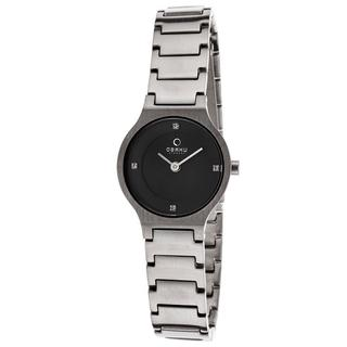 Obaku Women's V133STBST 'Harmony' Black Stainless Steel Watch