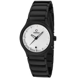 Obaku Women's V115LBWSB 'Harmony' Black Stainless Steel Watch