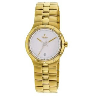 Obaku Women's V111LGWSG 'Harmony' Gold Tone Stainless Steel Watch