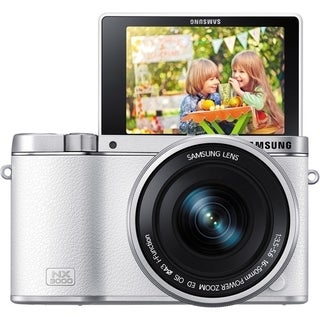 Samsung NX3000 Mirrorless White Digital Camera with 16-50mm Lens