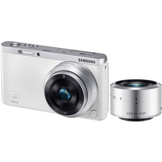 Samsung NX Mini White Digital Camera w/9 and 9-27mm Lens Kit