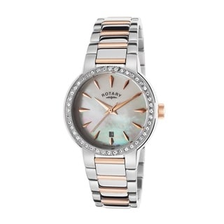 Rotary Women's ROTARY-LB02844-41 Classic White Mother of Pearl Watch
