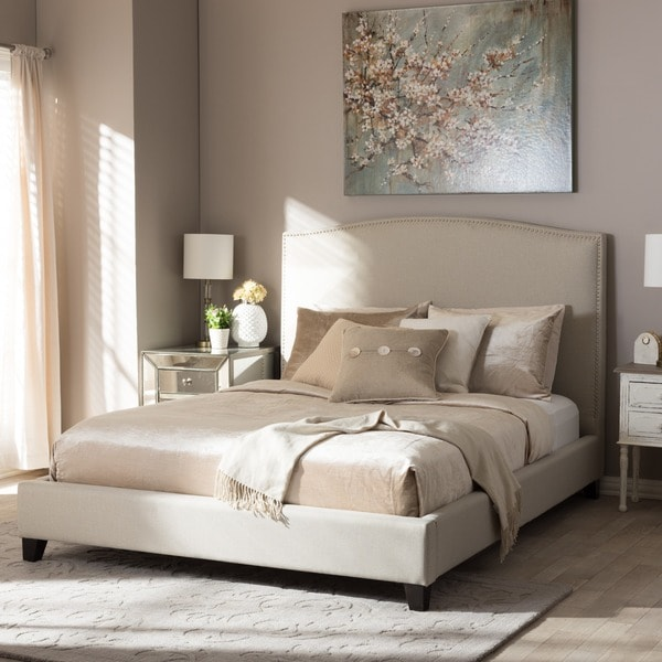 Shop Baxton Studio Aisling Light Beige Modern Platform Bed
