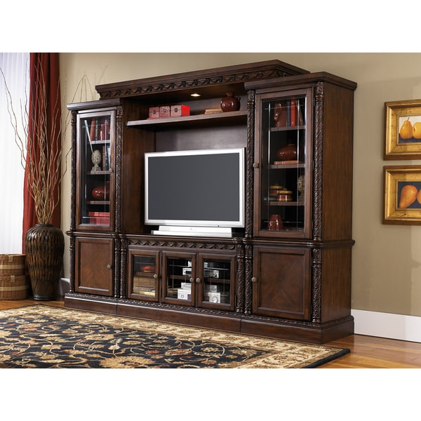 Signature Design By Ashley North Shore Brown Entertainment Center Free Shipping Today