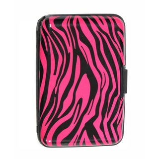 As Seen on TV Pink Zebra Design Aluminum Wallet