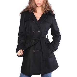 Wilda Women's 'Melissa' Black Wool Blend Parka|https://ak1.ostkcdn.com/images/products/9610289/P16795847.jpg?impolicy=medium