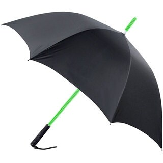 RainWorthy Black 48-inch LED Shaft Umbrella