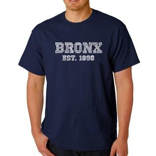 Men's Los Angeles Pop Art Bronx Neighborhoods T-shirt