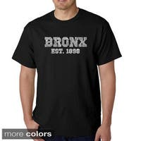 Men's Los Angeles Pop Art Bronx Neighborhoods T-shirt