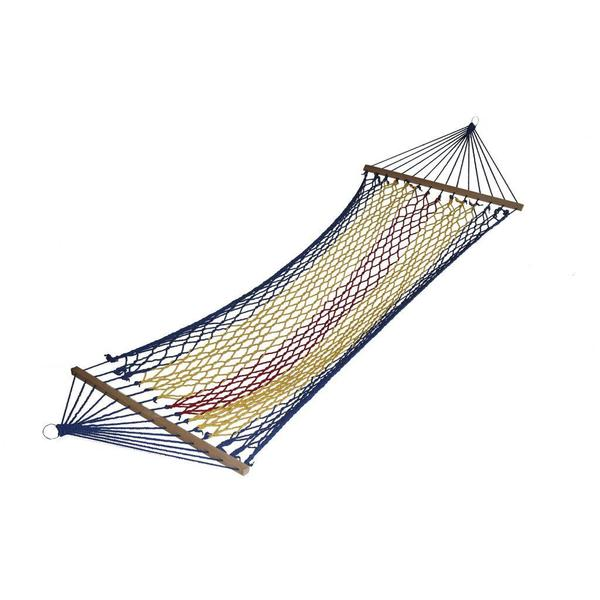 Rainbow Blue Rope Hammock