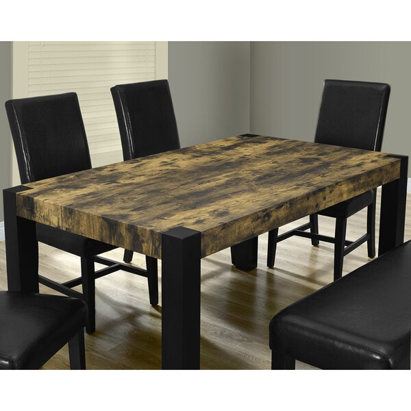 distressed reclaimed look black dining table free shipping today overstock 16795973. Black Bedroom Furniture Sets. Home Design Ideas