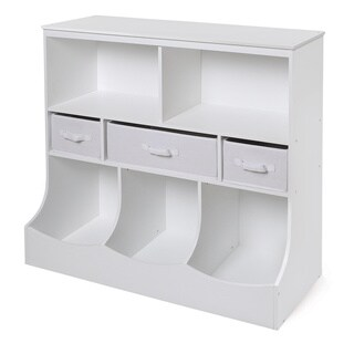 White 3-basket Storage Bin Unit (2 options available)