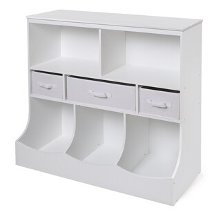 White 3-basket Storage Bin Unit