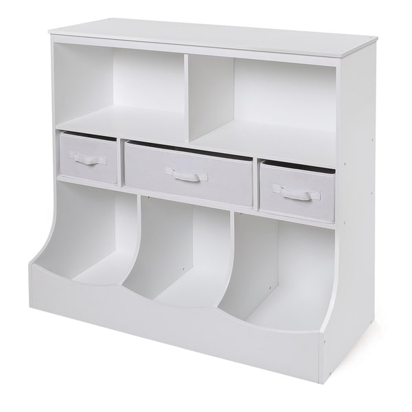 White 3-basket Storage Bin Unit  sc 1 st  Overstock.com & Shop White 3-basket Storage Bin Unit - Free Shipping Today ...