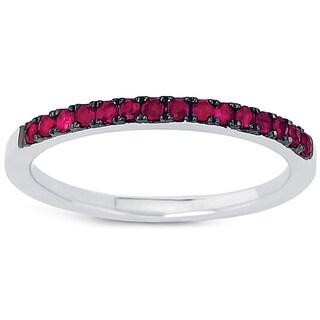 Boston Bay Diamonds 14k White Gold Ruby Stackable Ring