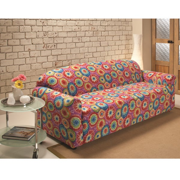 Dying Sofa Covers: Shop Sanctuary Stretch Jersey Tie-dye Sofa Slipcover