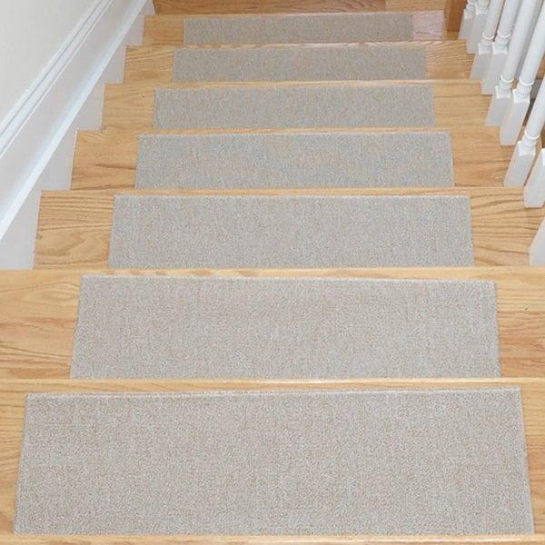 Ottomanson Skid Resistant Non Slip Carpet Stair Treads