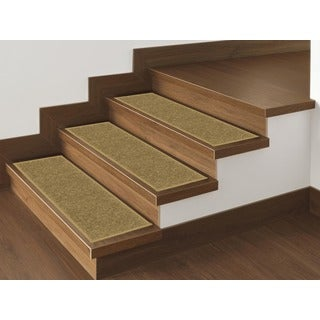 Ottomanson Skid-resistant Non-slip Carpet Stair Treads (Set of 7)