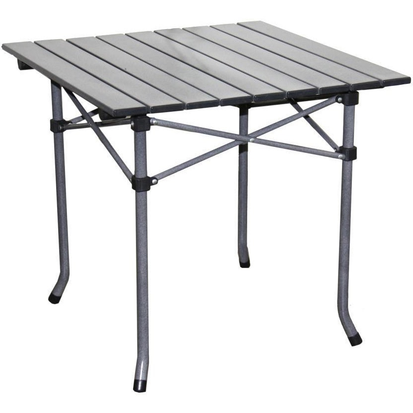 ORE International Aluminum Roll Slat Dove Grey Table