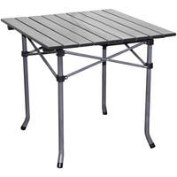Aluminum Roll Slat Dove Grey Table