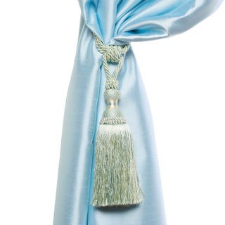 Aurora Home Verona Tassel Curtain Tie Back Pair (Option: Blue)