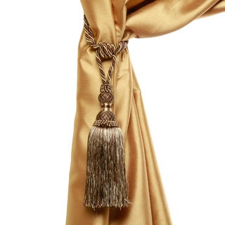 Aurora Home Verona Tassel Curtain Tie Back Pair