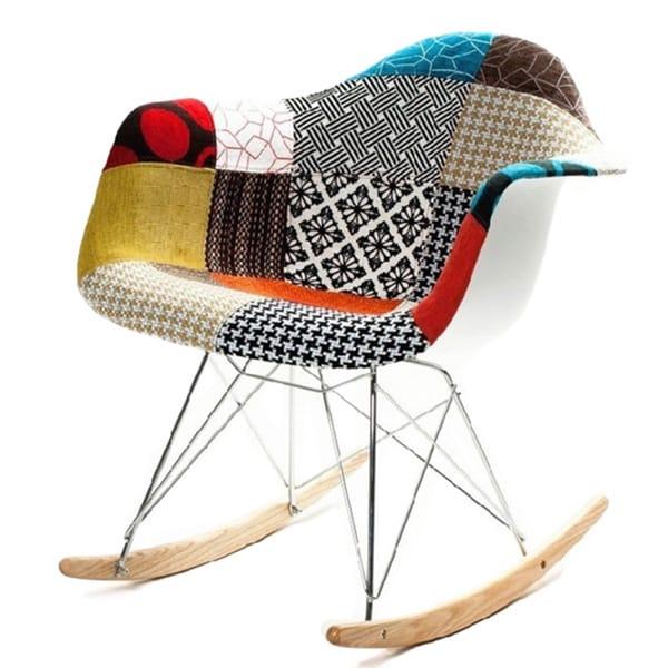 Charmant Pattern Rocker Arm Chair