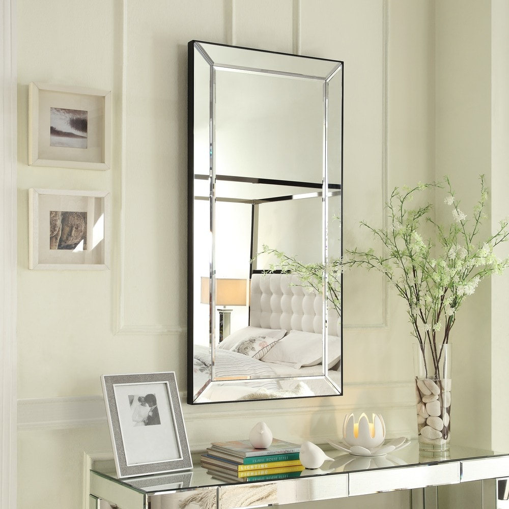 Conrad Mirrored Frame Rectangular Accent Wall Mirror By Inspire Q Bold On Sale Overstock 9610556