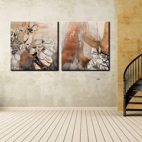 Ready2HangArt 'Painted Petals X' 2-piece Canvas Wall Art Set