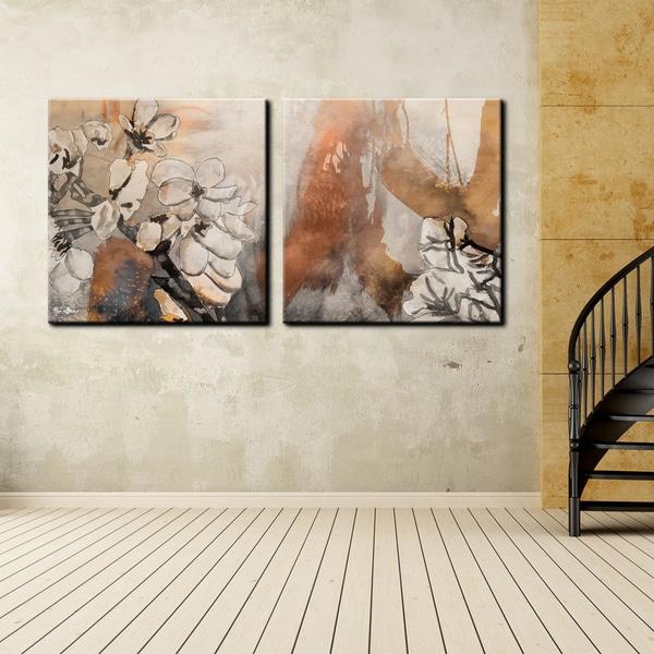 Ready2HangArt 'Painted Petals X' 2-piece Canvas Wall Art