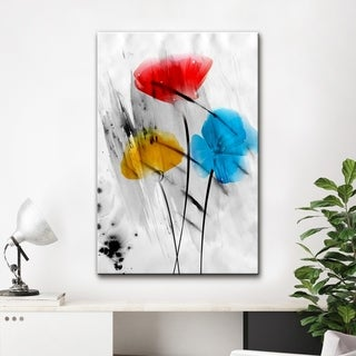 Ready2HangArt 'Painted Petals III-B' Canvas Wall Art