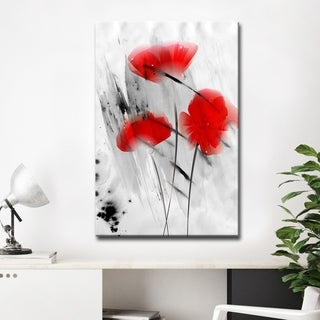Ready2HangArt 'Painted Petals III' Canvas Wall Art - Black/Grey/Red