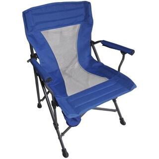 Portable Folding Blue Armchair
