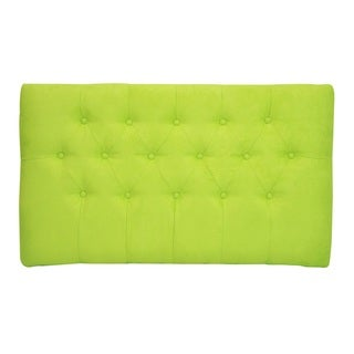Lime Green Tufted Suede Twin Headboard