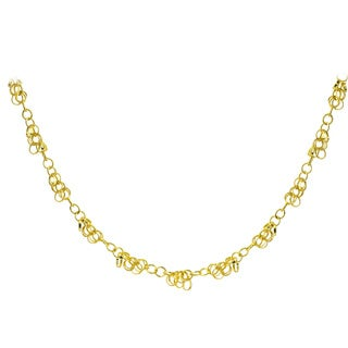 Mondevio 14k Yellow Gold 4mm Rolo Chain Necklace
