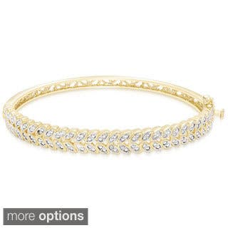 Finesque Gold Overlay Diamond Accent Leaf Bangle Bracelet|https://ak1.ostkcdn.com/images/products/9610599/P16796075.jpg?impolicy=medium