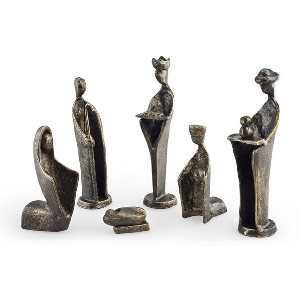 6 pc. Iron Nativity Set, Family & Kings. Opens flyout.