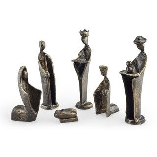 6 pc. Iron Nativity Set, Family & Kings