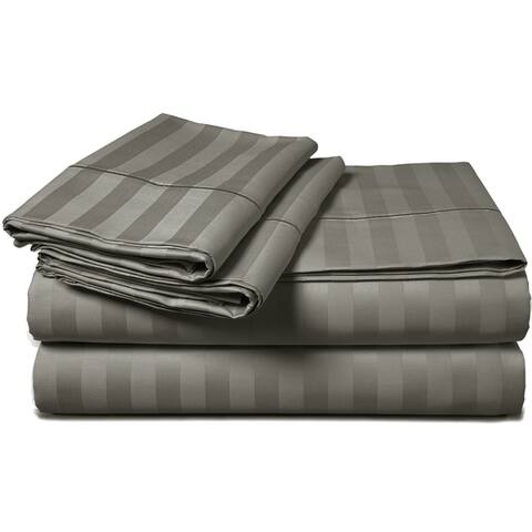 Luxury 500 Thread Count Long Staple Cotton Executive Striped Sheet Set