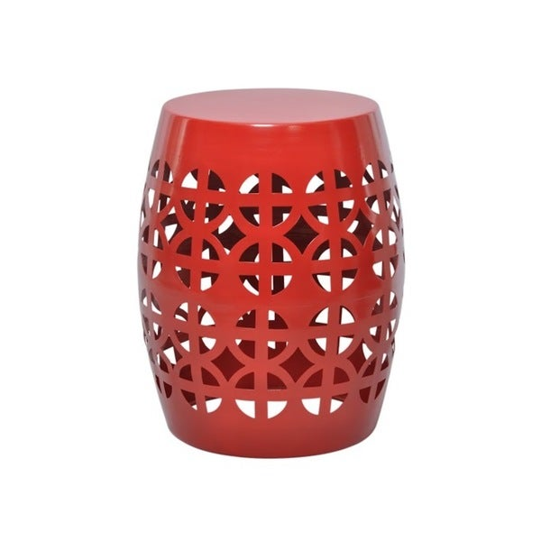 Artisan Red Garden Stool Side Table Free Shipping Today