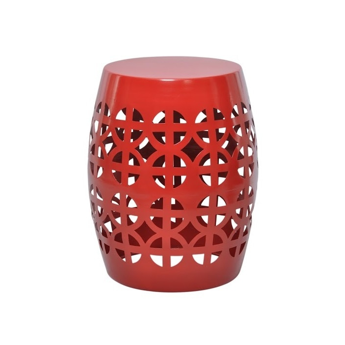 Artisan Red Garden Stool Side Table Free Shipping On